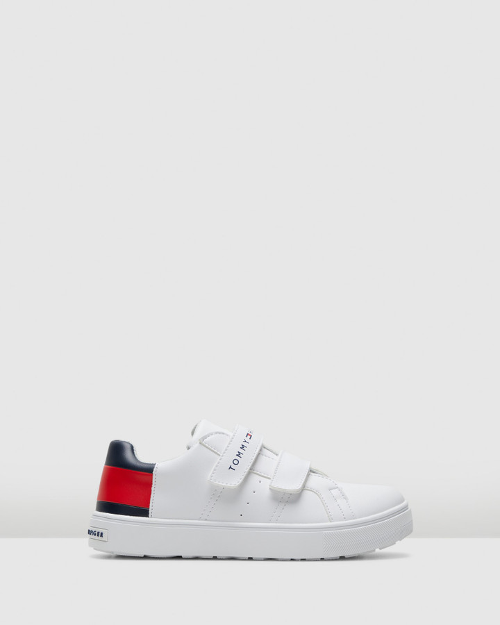 Shoes and Sox Th Sf Big Flag Sneaker Snr White/Navy/Red