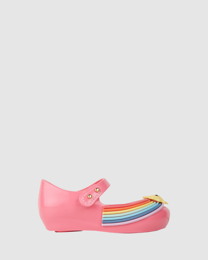 Shoes and Sox Ultragirl Sunny Day Bb Pink Rainbows