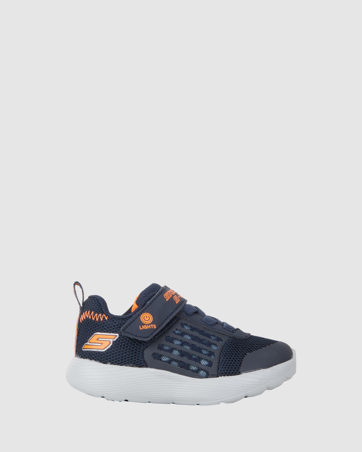 Shoes and Sox Dyna Lights Inf B Navy/Orange