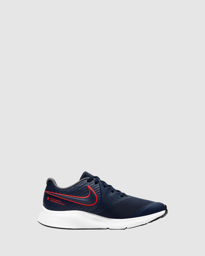 Shoes and Sox Star Runner 2 Gs B Midnight Navy/Crimson