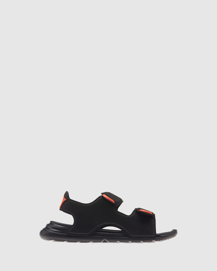 Shoes and Sox Swim Sandal Ps B Black/White