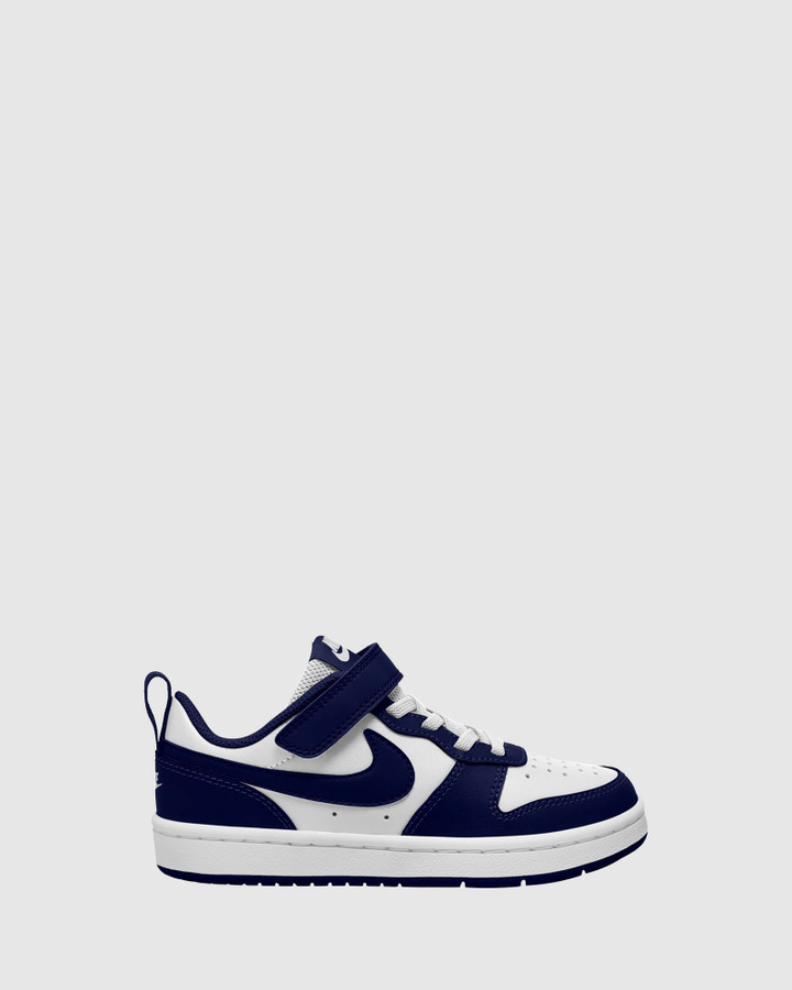 Shoes and Sox Court Borough Low 2 Ps B White/Blue Void