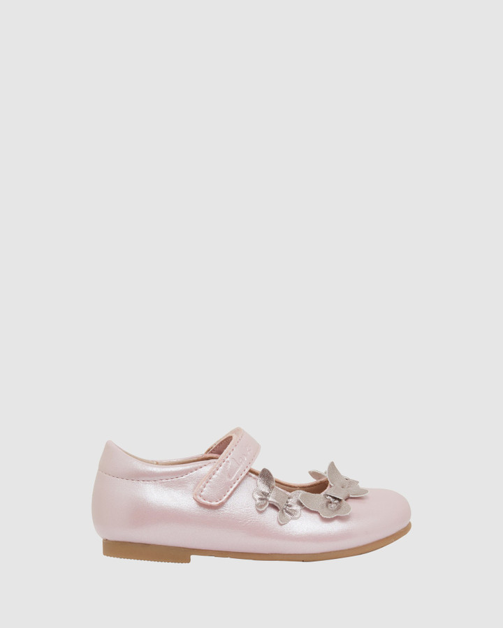Shoes and Sox Amalfi Jnr Pale Pink Pearl