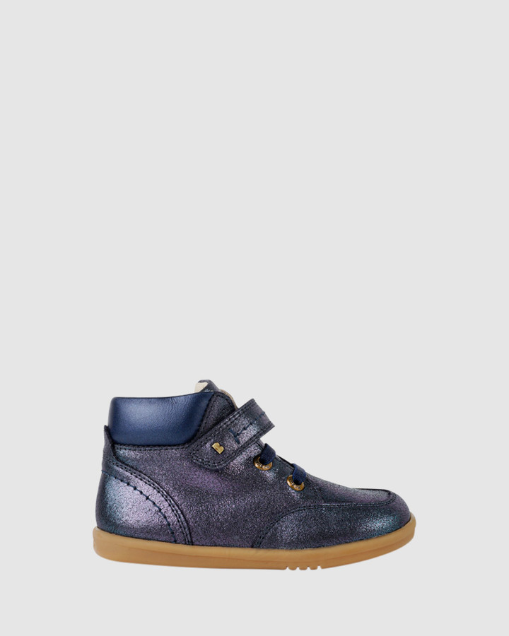 Shoes and Sox Iwalk Timber Boot G Navy Glitter