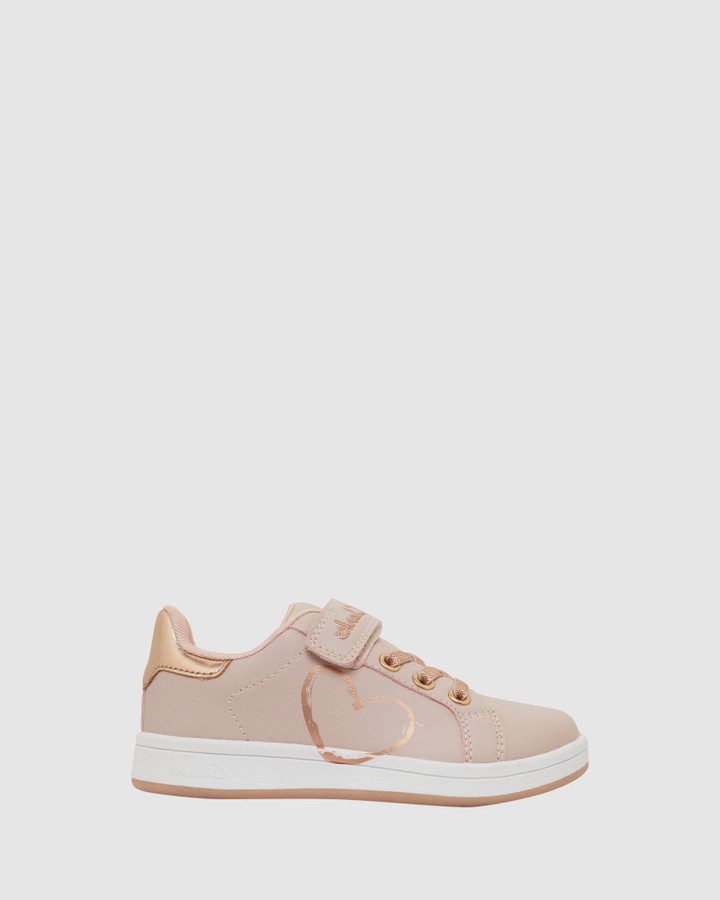 Shoes and Sox Desiree Jnr Pink/Rose Gold E+