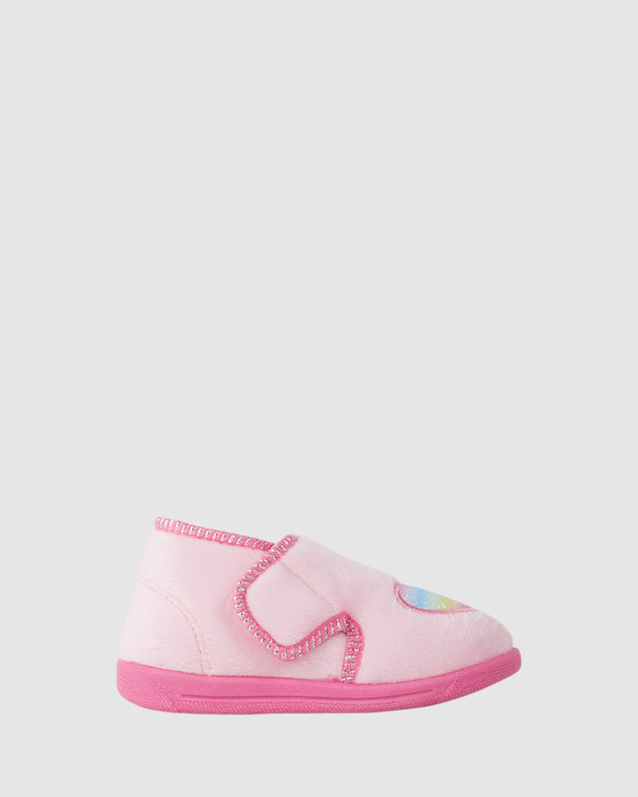 Shoes and Sox Sweetheart Slippers Pink