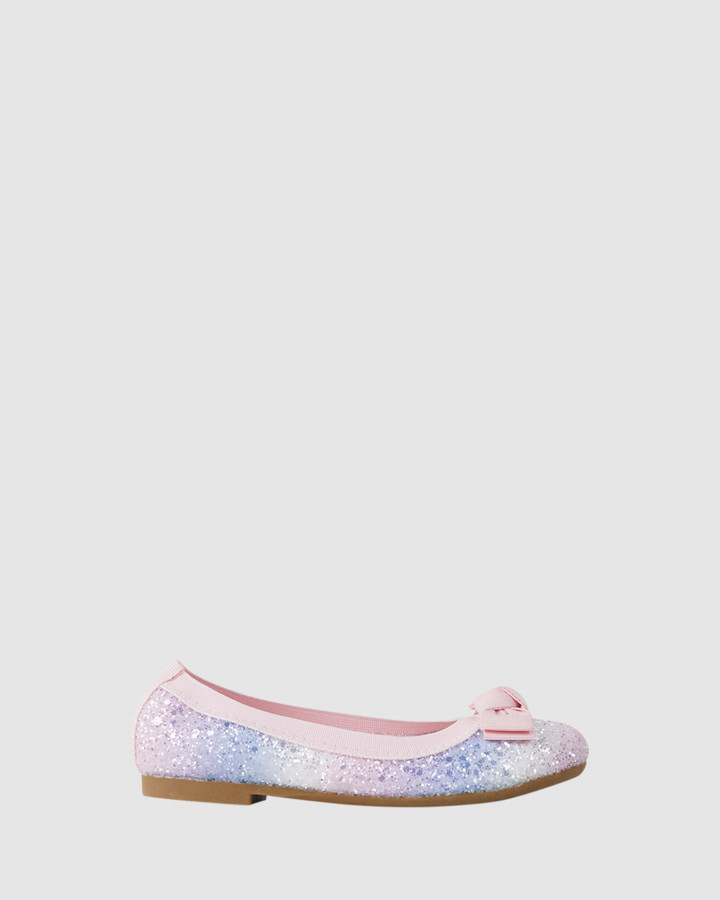 Shoes and Sox Keely Chunky Glitter Ballet Pastel Multi