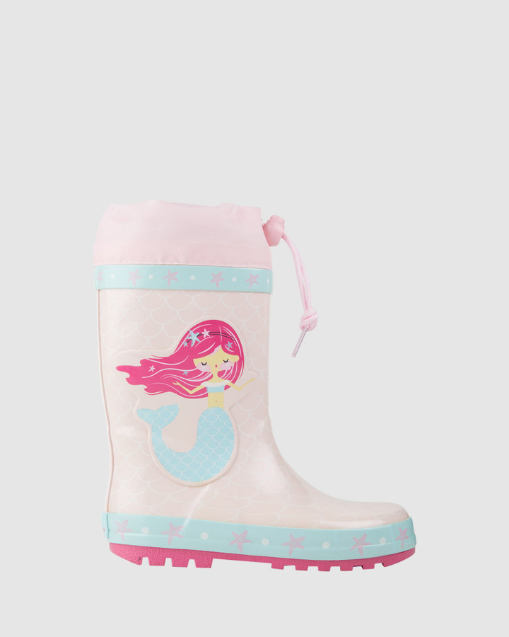 Shoes and Sox Mermaid Gumboot Light Pink