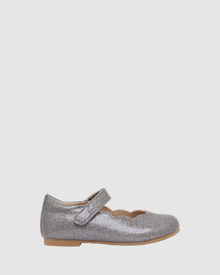 Shoes and Sox Audrey Ii Jnr Pewter Glitter