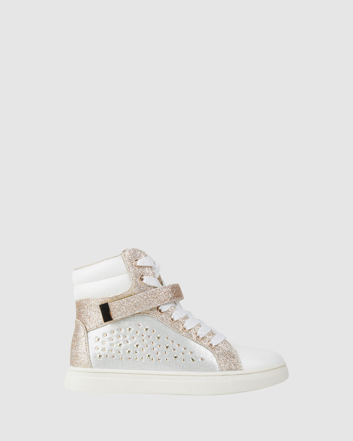 Shoes and Sox Stellar White/Gold
