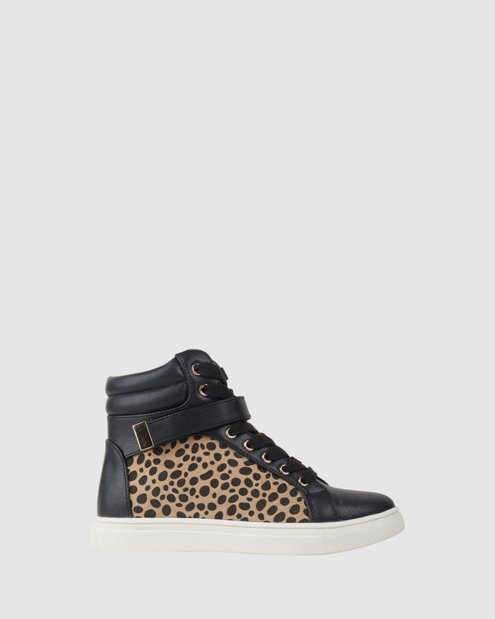 Shoes and Sox Stellar Black/Leopard
