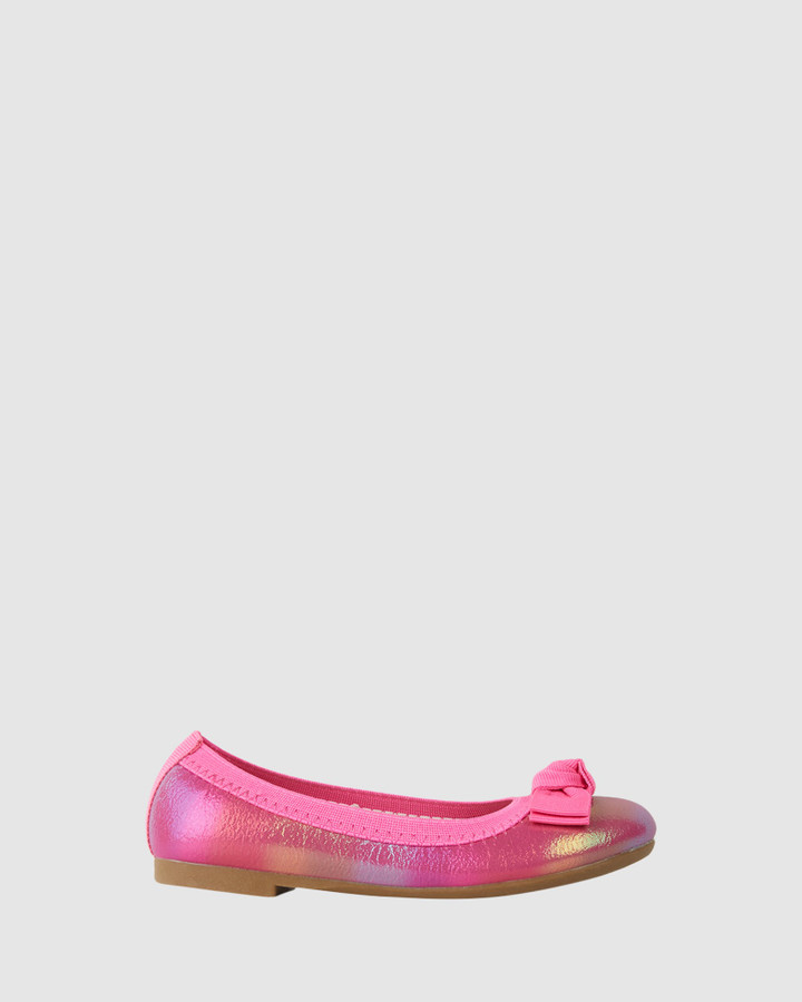 Shoes and Sox Keely Rainbow Ballet Bright Pink