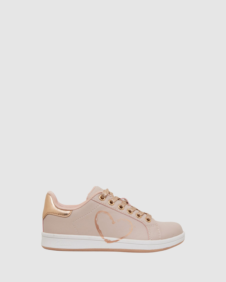 Shoes and Sox Desiree Pink/Rose Gold E+