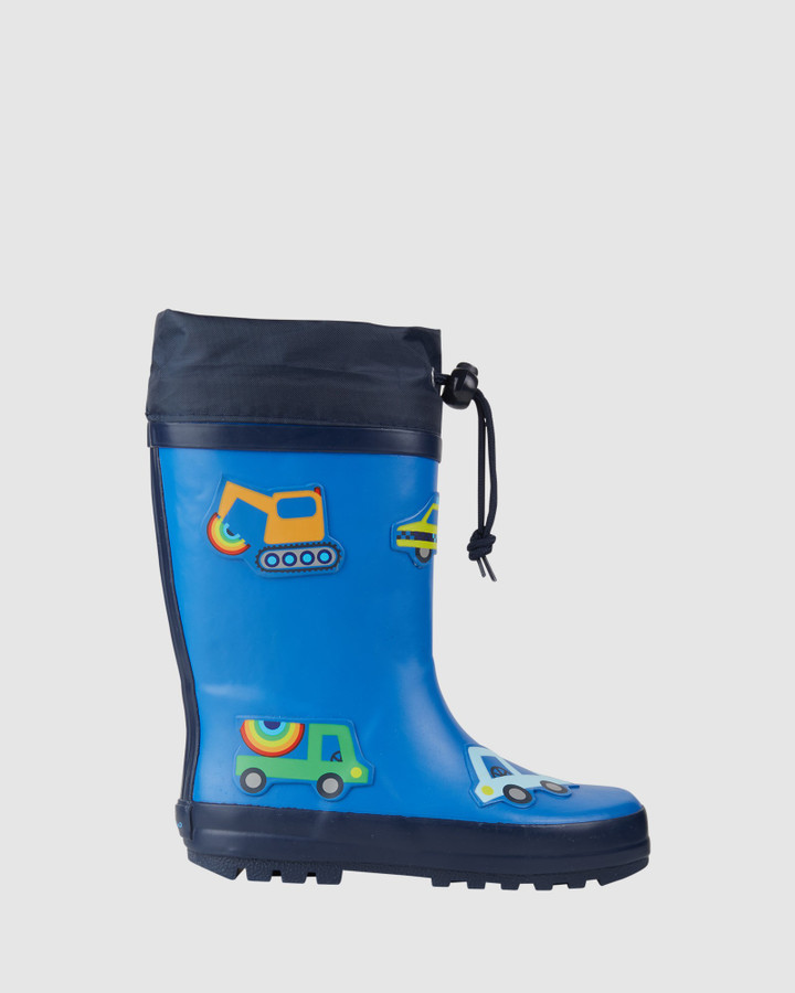 Shoes and Sox Vehicles Gumboot Blue Multi