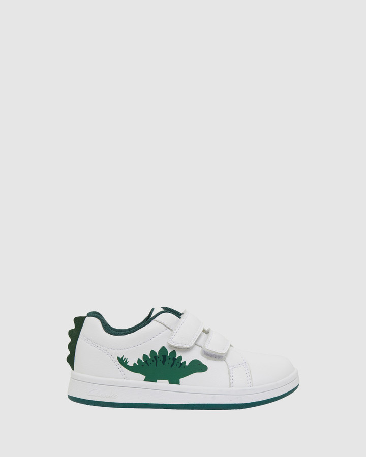 Shoes and Sox Dewey White/Green E+