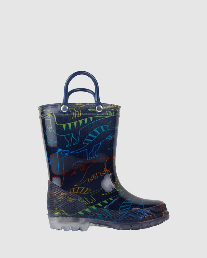 Shoes and Sox Kipp Dino Gumboot B Navy Multi