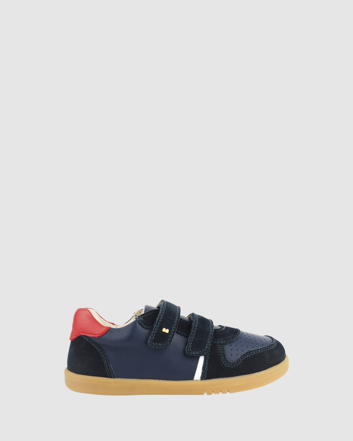 Shoes and Sox Kid+ Riley B Navy/Red