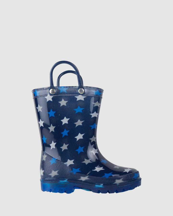 Shoes and Sox Kipp Star Gumboot B Blue/White