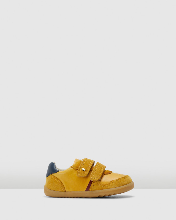 Shoes and Sox Step Up Riley B Chartreuse /Navy