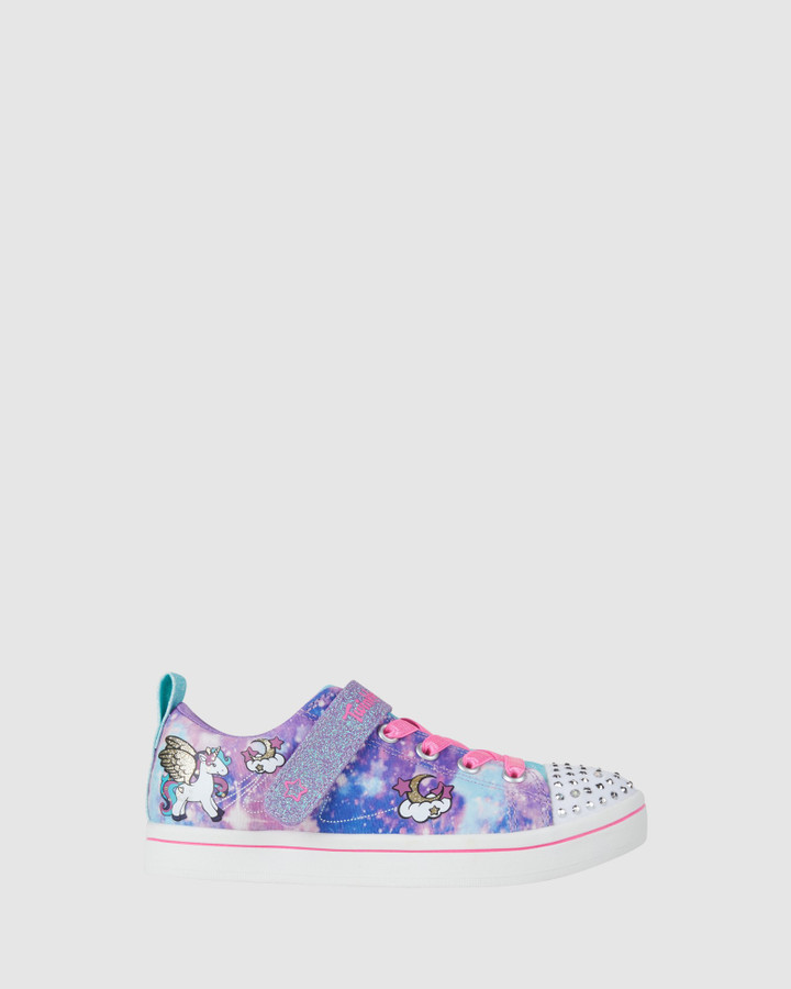 Shoes and Sox Tt Sparkle Rayz Unicorn Yth Purple Multi