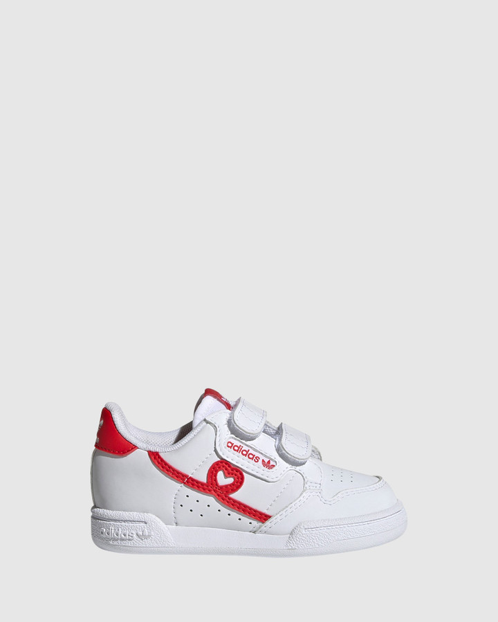 Shoes and Sox Continental Heart Sf Inf White/Red