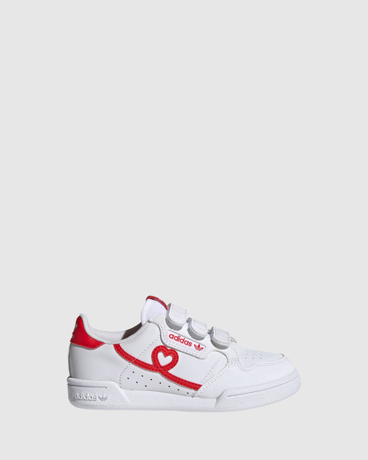 Shoes and Sox Continental Heart Sf Ps White/Red