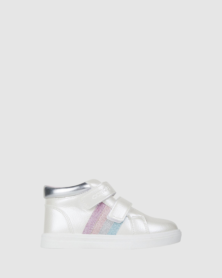 Shoes and Sox Esra Hi Top White Multi