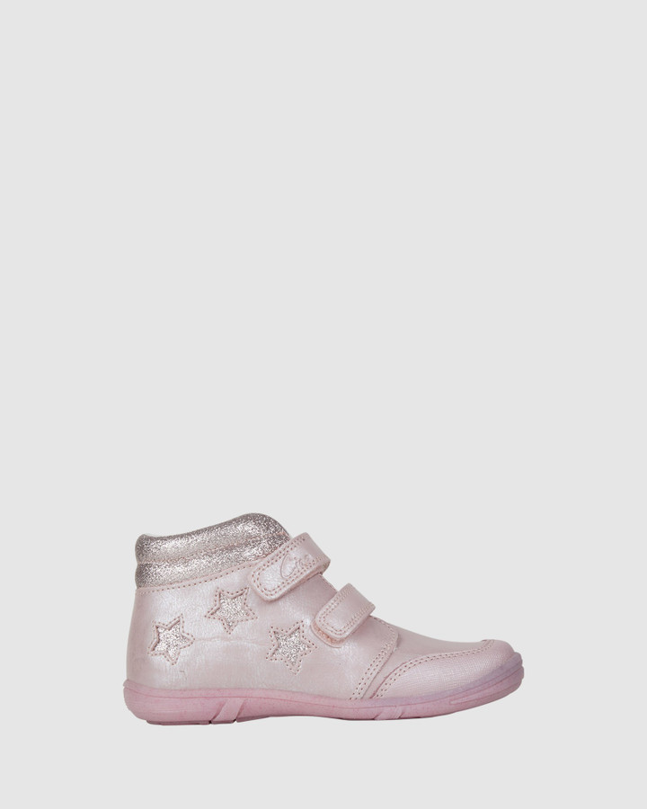 Shoes and Sox Gemma Star Boot Light Pink Shimmer
