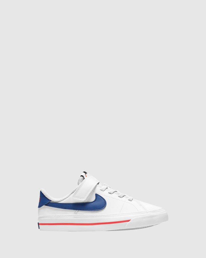 Shoes and Sox Court Legacy Ps B White/Deep Royal Blue