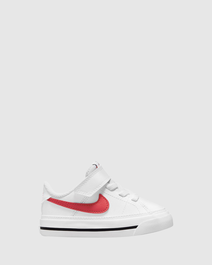 Shoes and Sox Court Legacy Inf B White/Red/Black