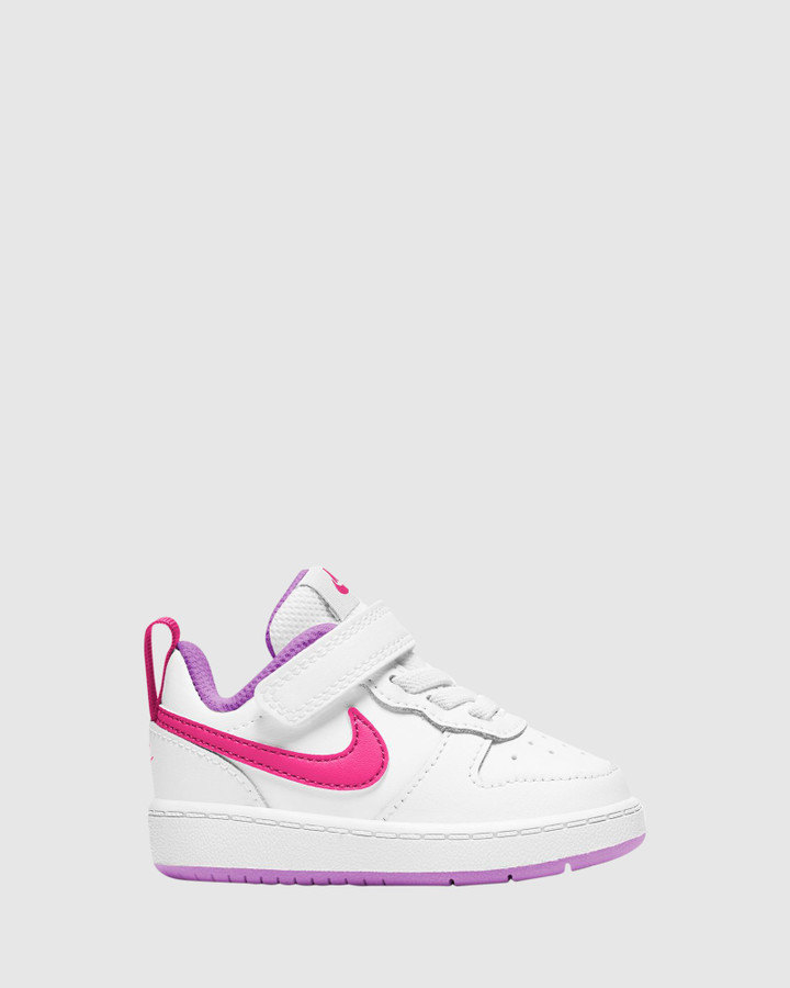 Shoes and Sox Court Borough Low 2 Inf G White/Hyper Pink