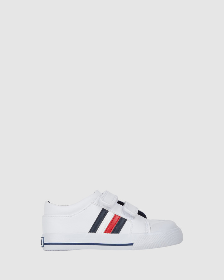Shoes and Sox Mike Stripe White/Navy/Red