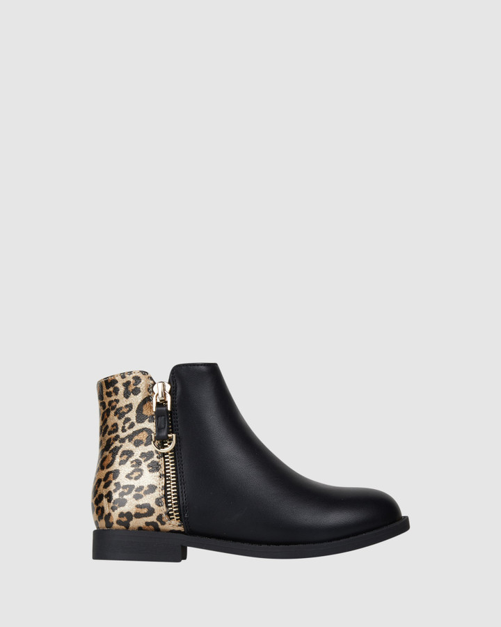 Shoes and Sox Edina Boot Black/Gold