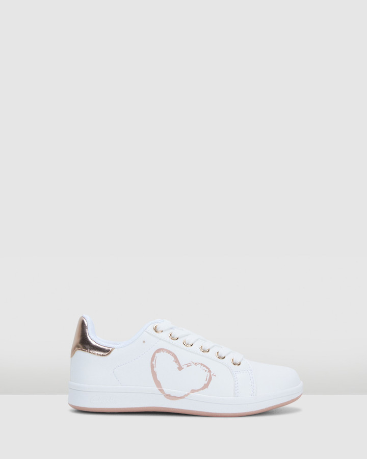 Shoes and Sox Desiree White/Rose Gold E+