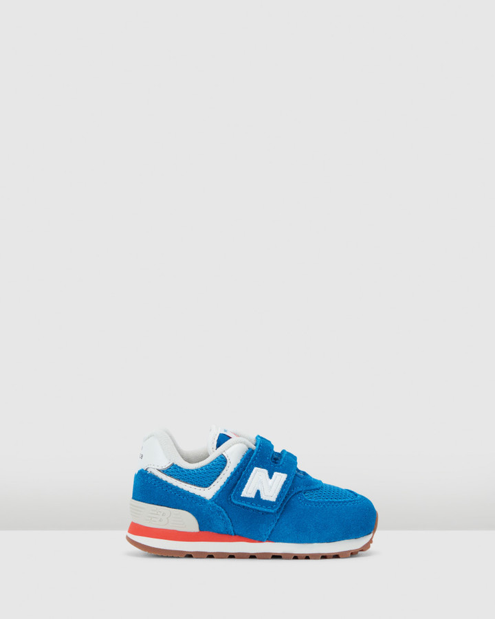 Shoes and Sox 574 Sf Strap Inf B Blue/Orange