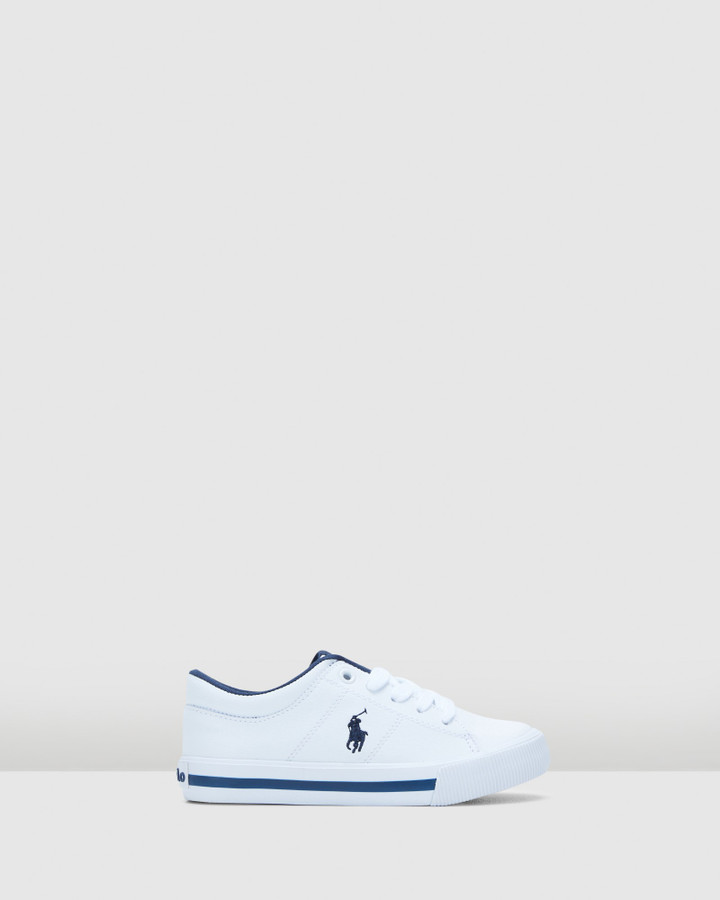 Shoes and Sox Elmwood Tumbled Yth B White/Navy