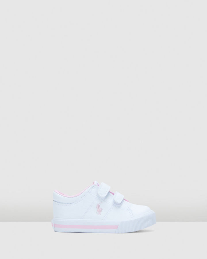 Shoes and Sox Elmwood Ez Tumbled Inf G White/Light Pink