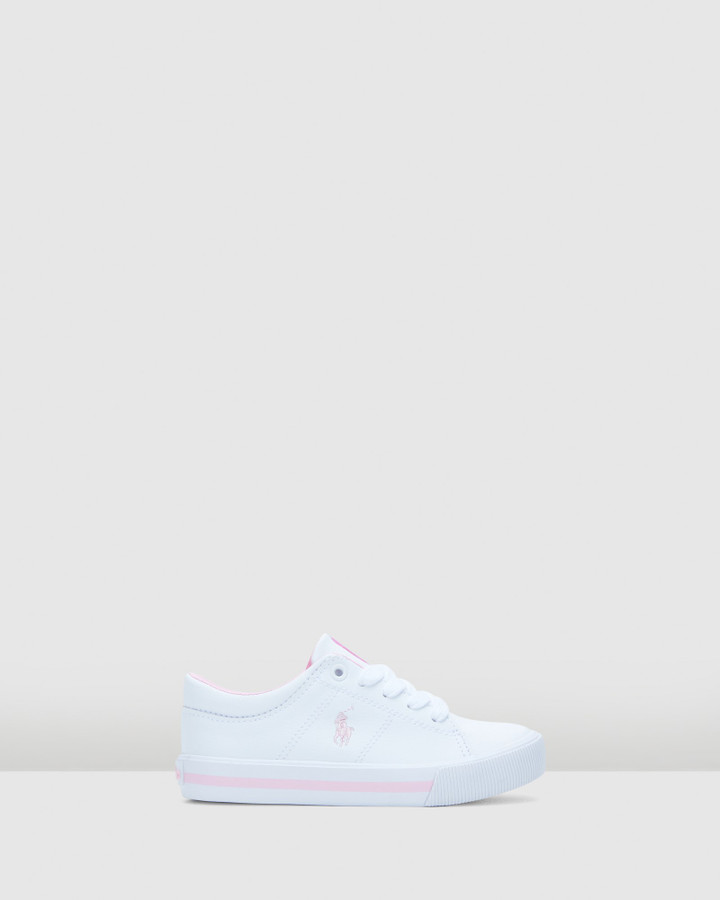 Shoes and Sox Elmwood Tumbled Yth G White/Light Pink