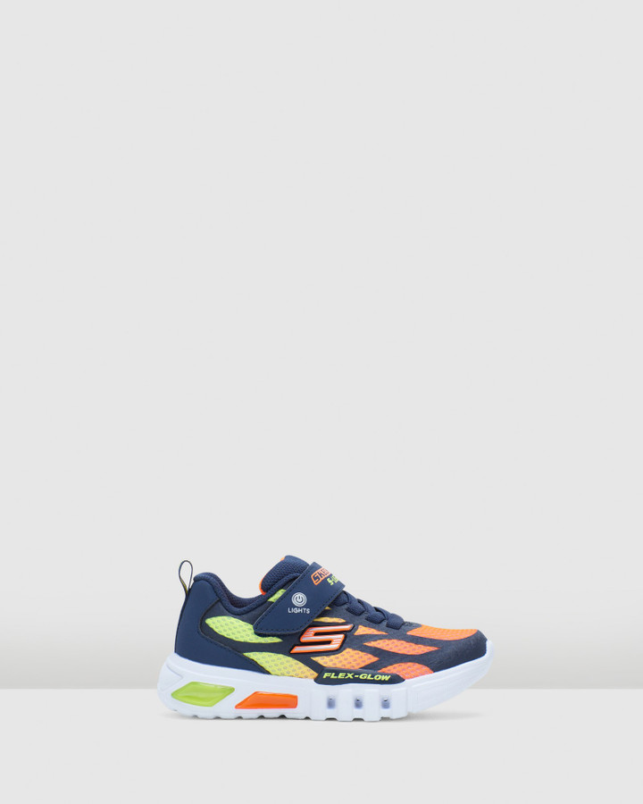 Shoes and Sox Flex Glow Dezlo Yth Navy/Orange