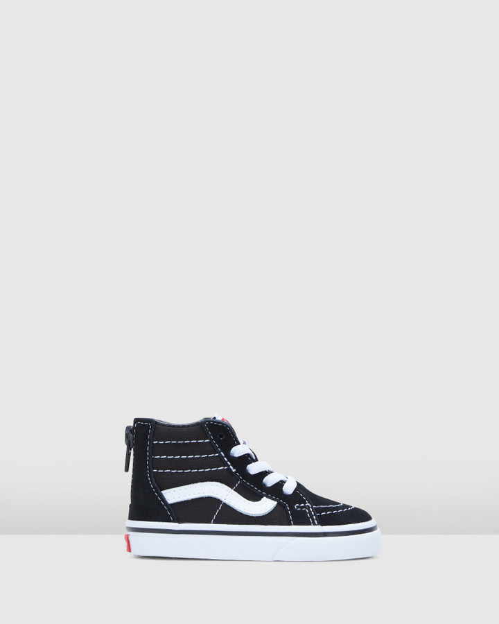 Shoes and Sox Sk8 Hi Zip Inf B Black/White