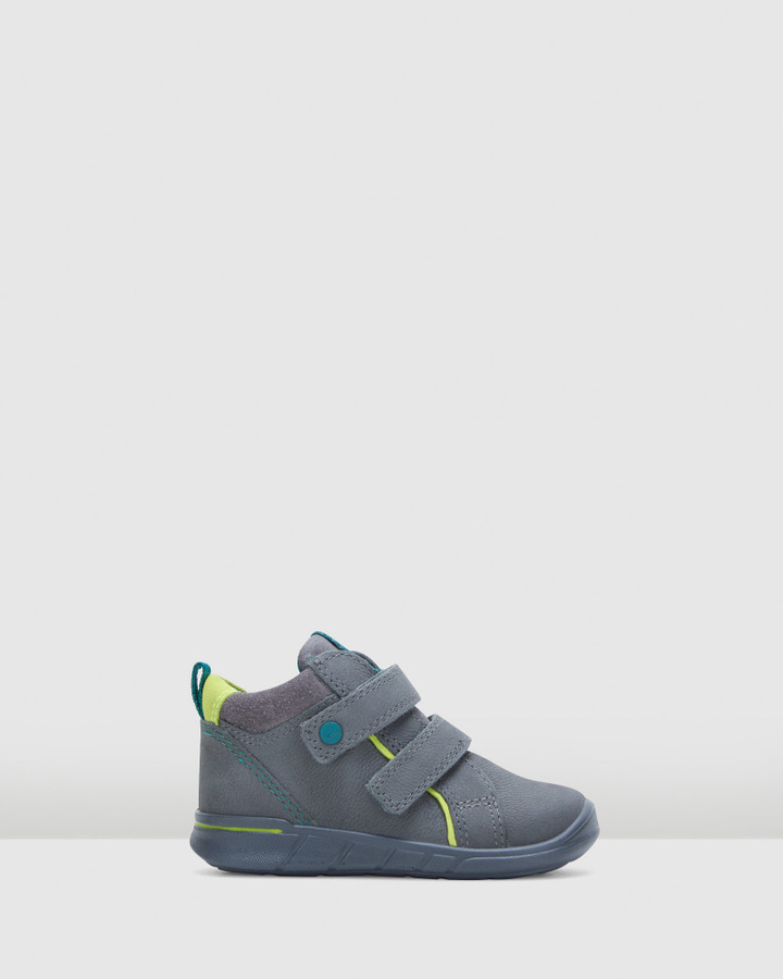 Shoes and Sox First 2 Strap Boot Inf B Grey/Lime