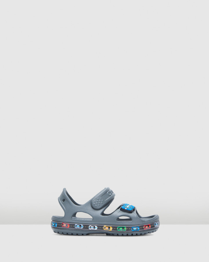 Shoes and Sox Fun Lab Car Sandal B Slate Grey