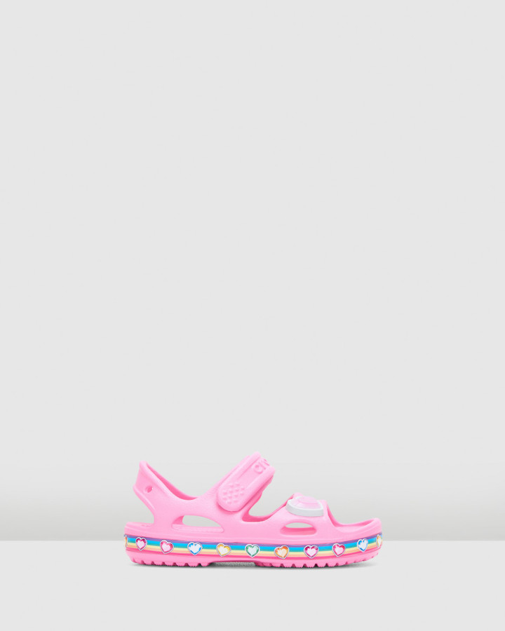 Shoes and Sox Funlab Rainbow Sandal G Pink Lemonade