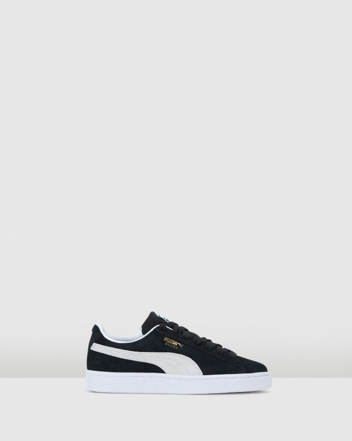 Shoes and Sox Suede Classic Xxi Gs B Black/White