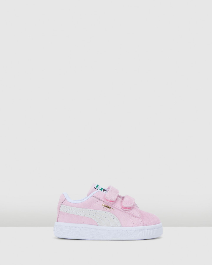 Shoes and Sox Suede Classic Xxi Sf Inf G Pink Lady/White