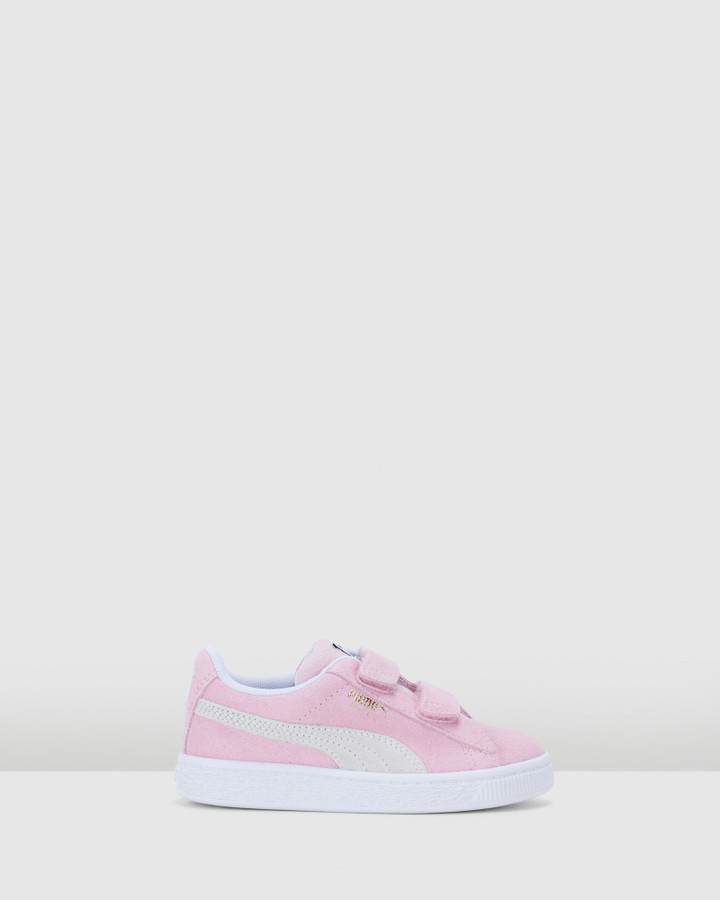 Shoes and Sox Suede Classic Xxi Sf Ps G Pink Lady/White