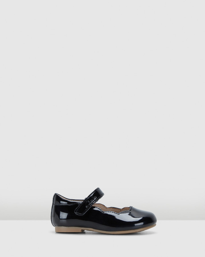Shoes and Sox Audrey Ii Jnr Black Patent
