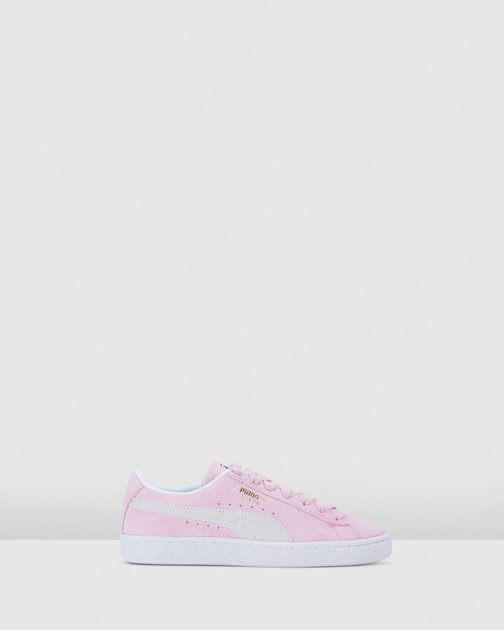 Shoes and Sox Suede Classic Xxi Gs G Pink Lady/White