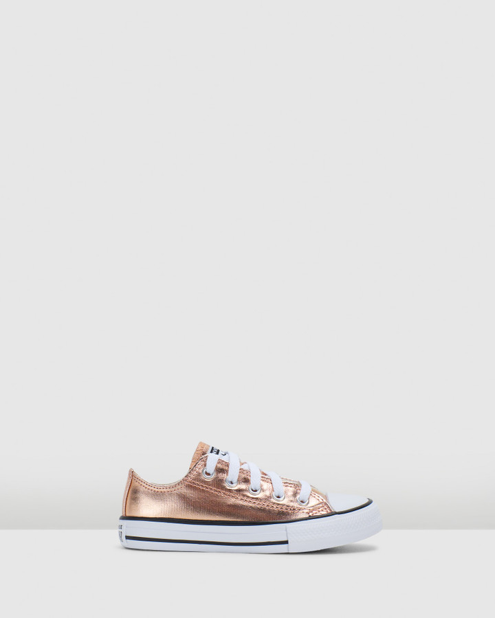 Shoes and Sox Ct As Metallic Ox Yth G Blush Gold