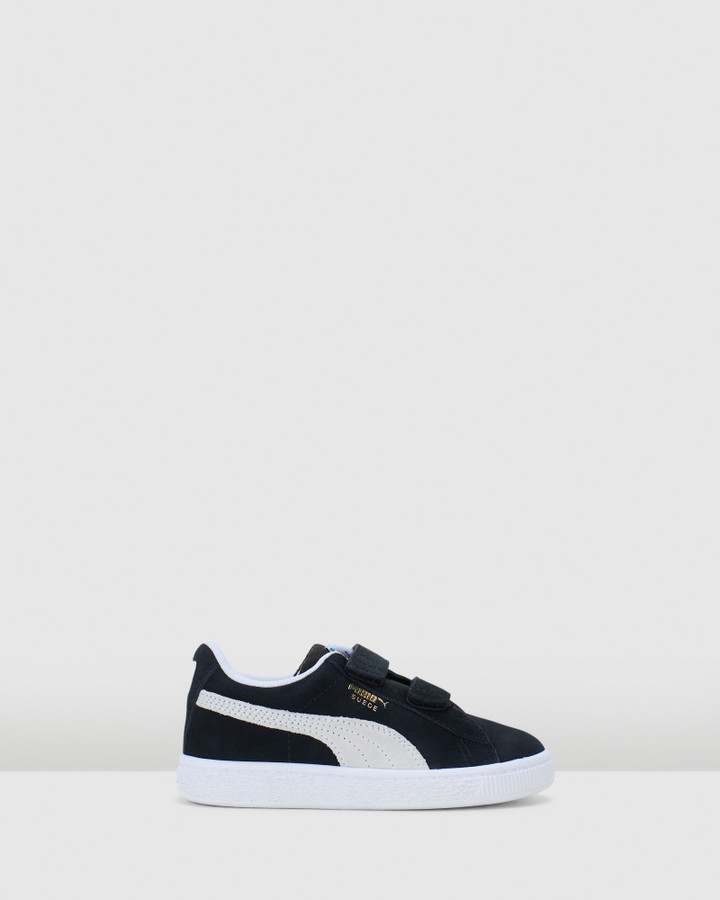 Shoes and Sox Suede Classic Xxi Sf Ps B Black/White